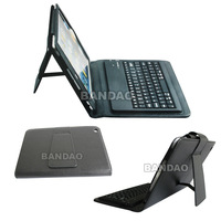 Wireless Bluetooth  3.0 Keyboard  Black Leather Stand Cover Case PU Case For Apple iPad Mini