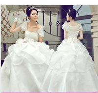 free shipping 2014 new wedding dress together to show thin princess wiping a bosom wedding fashion lace sweet flower