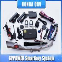 Dedicated remote car start alarm system for 2012 Honda CRV, Car central lock kit, Window closer, Push button start engine