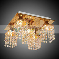 Freeshipping, Beaded Ceiling Light with 5 Lights in Crystal for Living Room, Bedroom in  Crystal, Modern/Comtemporary style