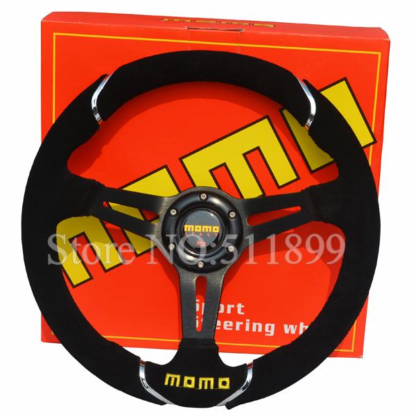 Momo Red Suede Steering Wheel Momo Racing Steering Wheel
