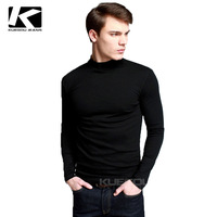 2013 Fashion Stylish Men's Thicken T-shirt, Half Turtleneck Casual Slim-fit Cotton Tshirt For Men, Free China Post Shipping