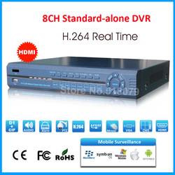 8 channel H.264 network digital video recorder, with HDMI RS485 PTZ Motion Detection, mobile surveillance, free CMS software(China (Mainland))