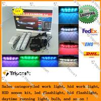 Free shipping New  10PCS Super White 8 LED Universal Car Light Daytime Running auto lamp DRL