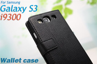 High Quality Wallet Style Leather Case For Samsung Galaxy S3 i9300 Stand Case Design Mutil Colors Mobile Phone Accessory