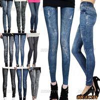 12xFashion Sexy Women Jeans Skinny Leggings Jeggings Stretch Pants Free Shipping