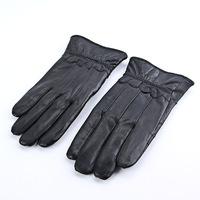Winter Blending Sheepskin Leather Gloves Fur Cape Glove Men Women Bike MotorCycling   (LKST02 ) dropshipping free shipping