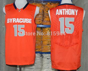 College Syracuse Orange #15 Camerlo Anthony ncaa basketball jerseys mix order free shipping