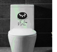 Wall stickers decoration bathroom toilet sticker bad boy cute glass cabinet laptop notebook sticker sofa home decal decor18*15cm