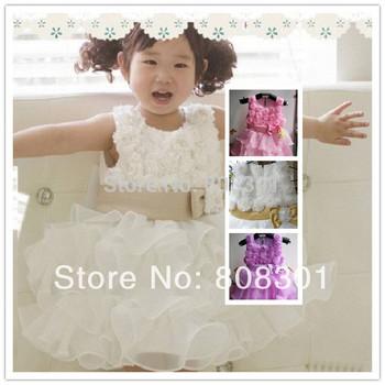 Pendulum type sleeveless Waist Chiffon Dress ---1pcs single sale of children dress girl skit