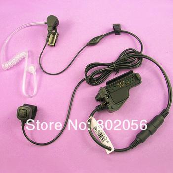 Finger PTT Acoustic Air tube Headset for Motorola EF Johnson 5100 5700 Series 511X 512X 518X