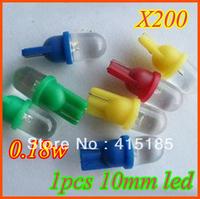 Free Shipping 200pcs/lot T10 W5W 168 194 1 LED Car Wedge Light Lamp Bulbs White Color