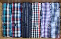 Random sent&Can be Mixed wholesale Soft &Cool Underwear plaid Aro man's 100% cotton puls size loose boxer home shorts brand