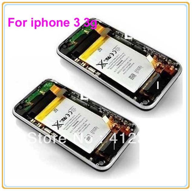 10pcs/lot Black/White For iPhone 3G 3GS full Housing Cover + Front Bezel Frame full set Assembly + Sim Tray + Battery(China (Mainland))