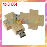 Free shipping Wholesale 1GB 2GB 4GB 8GB 16GB 32GB 64 Wooden Cross USB Flash Memory Drive Dropshipping  stock #CH004