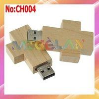 Free shipping Wholesale 1GB 2GB 4GB 8GB 16GB 32GB 64 Wooden Cross USB Flash Memory Drive Dropshipping  stock #CH004
