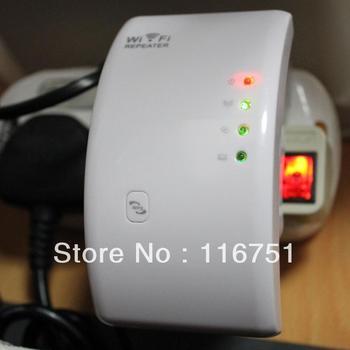 Free shipping WPS 300Mbps wireless n Wifi Repeater 802.11N/B/G Network Router Range Expander 300M 2dBi Antennas US/EU/AU Plug