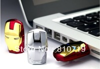 Hot ! The unique iron man model USB 2.0 Enough Memory Stick Flash pen Drive 4G 8G 16G 32G eyes can luminous,offer gift box
