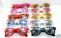 Free shipping 2013 Hot sale fashion eyewear kids glasses children sunglasses Hello Kitty mixed colors children accessories 20pcs