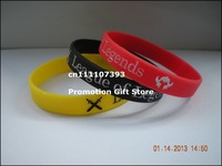 LOL, League of Legends Wristband, Debossed Silicon Bracelet, Promotion Gift, Adult, 3Colours, 100pcs/Lot, Free Shipping