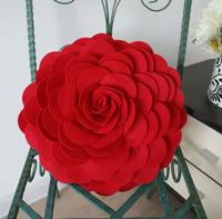 cushion cover pillowcase 3D Flower poly felt decoration home fashion