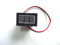 10pcs/lot BLUE LED Digital Voltmeter DC15-120V Auto Car Waterproof Panel Meter 24V 36V 99V