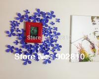 Listed in Stock Purple 12 x 3D PVC Flower Sticker Nursery Decor Decal FF2WF005