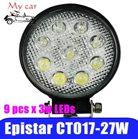 "external lights,4.6""27W LED Work Light for truck/trailer/caravanmotor home/marine water proof cross-country light"