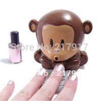 Cute Monkey Shape Nail Dryer Portable Mini Nail Blower Free Shipping