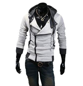 Free Shipping 2014 New Men Long Sleeve Fashion Slim  Zipper Cardigan Hooded Sweatshirts coat Hoodied MWW050