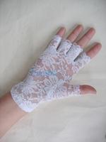 2013 Special Korean cosplay stage performances gloves half finger gloves short lace gloves white