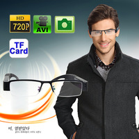 2013 fashion 720P super mini dvr slim glasses HD camera eyewear hidden camera with encryption read disk function