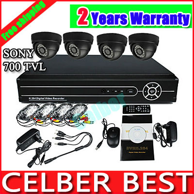 H.264 4CH Full D1 Real Time Network CCTV DVR with 4PCS Day and Night IR Weatherproof Security Camera Surveillance Video System(China (Mainland))
