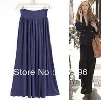 Free shipping 2013 vintage fashion pleated modal full skit black full skits Modalcomfort skirts 2color hotsale length95cm