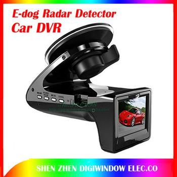 Hot FULL HD Car DVR Camera Recorder SH818+E-dog Radar Detector G-sensor Car Black Box Camera Radar Detection edog free shipping