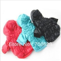 10PC/Lot 3Color Fashion Puffy Pet Jacket Winter Warm Dogs Hoodie Coat Large Dogs Clothes Apparel 5Sizes S-XXL Free Shippping