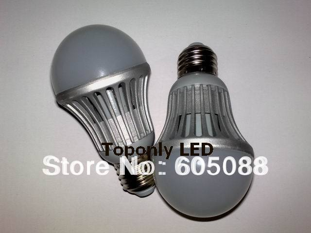 2014 new E27 7w led bulb light,AC80-300v,CRI>75,PF>0.9,SMD5730 led with shell&isolated driver patent design,500pcs/lot wholesale(China (Mainland))
