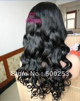 Sunnymay Big Loose Wave Virgin Malaysian Human Hair Full Lace Wigs