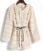 Free shipping 2014 Hot sales Spring fur Fashion Street overcoat Women's Faux Fur Coats Medium-long fur outerwear+Good quality