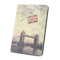 New High quality Retro style UK London Bridge PU Leather Case Cover with Stand for iPad Mini