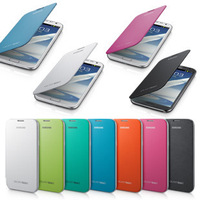 FREE SHIPPING 11 COLORS High quality as original as Battery Flip Leather case Cover For samsung galaxy note 2 N7100