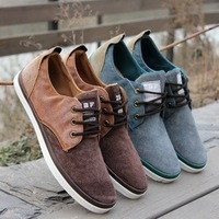 2013 new arrival canvas shoes for men low lacing color block decoration canvas all-match flats casual shoes sneakers for men