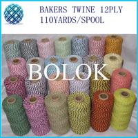 100% Cotton Baker twine (110yard/spool)50pcs/lot  divine twine, rope 52 kinds color wholesale
