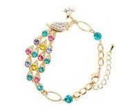 Minimum order $15 free shipping  noble and elegant gift fashion colorful peacock bracelet