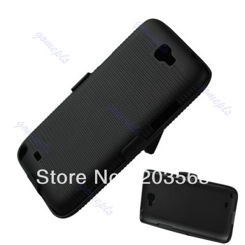 Portable Hard Back Case Cover stripe w Clip Holder Stand For Samsung Galaxy Note II 2 N7100 Free Shipping!