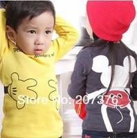 Wholesale - 2013 new style children T-shirt, children's cartoon long sleeve boys  children garment T-shirt Cotton candy color