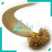 "16""-26"" Pre-Bonded hair U Tip Keratin Glun Nail Tip Hair Extension Silky Straight weaves hair products #24 medium blonde,100s"