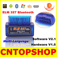 ELM327 The Smallest Wireless Car Diagnostic Tool Super Mini ELM 327 Bluetooth V2.1 OBD2 For Multi-Brand OBDII CAN-BUS SCNA