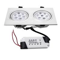 HSD327 2*7w 14W LED grille lamp two head lamp lighting 14w LED high lumin lights LED apotlight