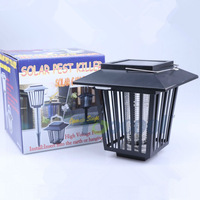 Solar LED Lamp Mosquito Killer Zapper Garden Light Outdoor Courtyard Freeshipping